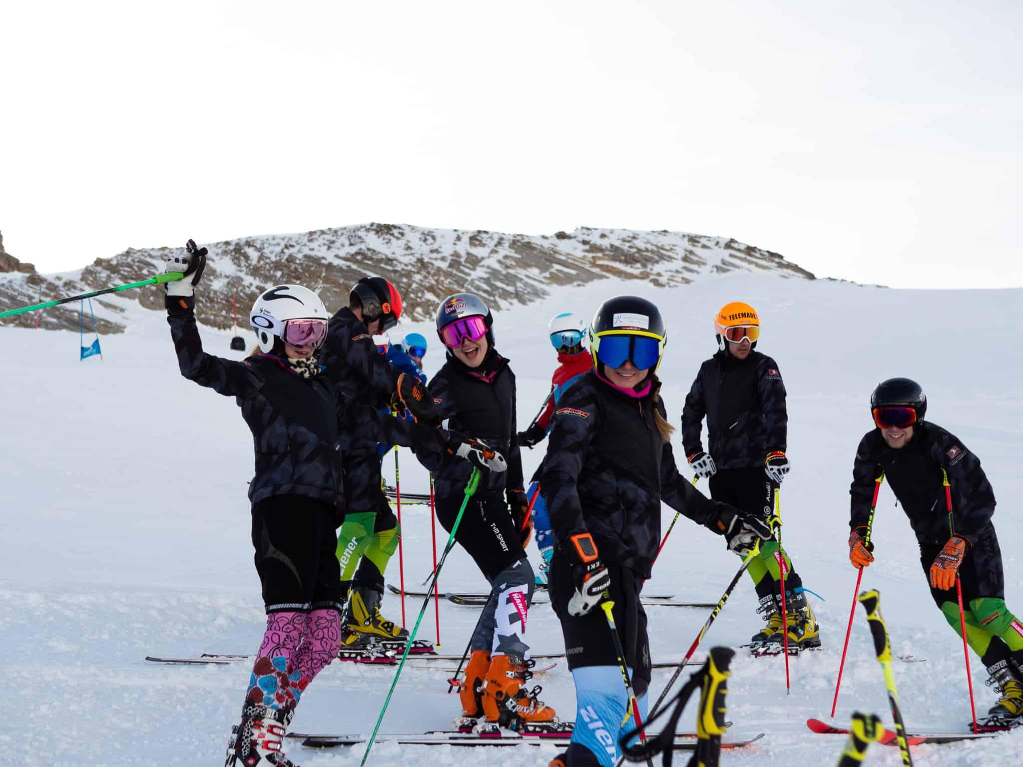 Telemark Team Germany beim intertnaionalen Trainingscamp in Hintertux