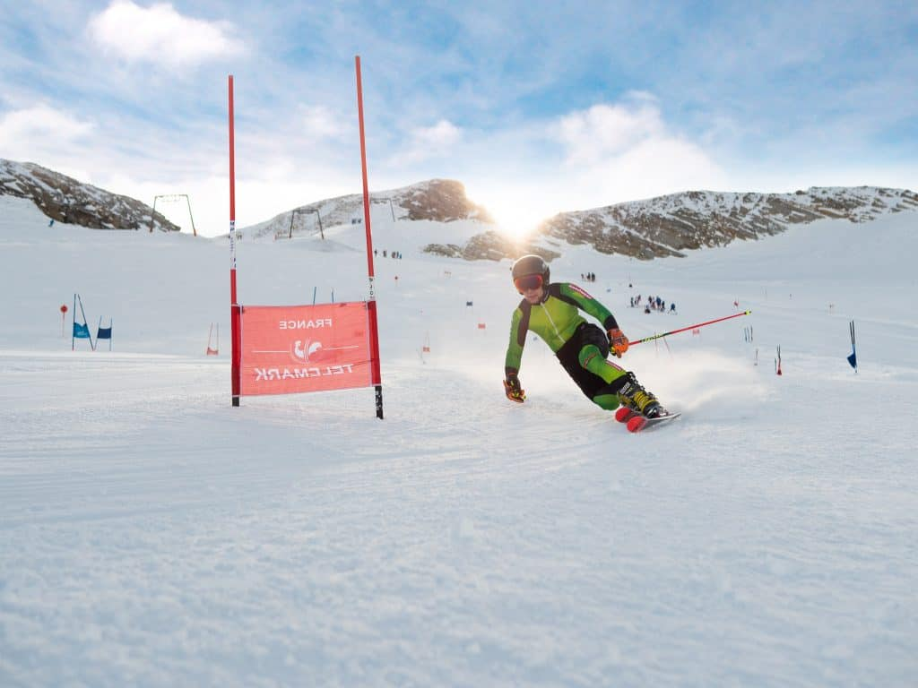Christoph Frank beim internationalen Trainingscamp in Hintertux