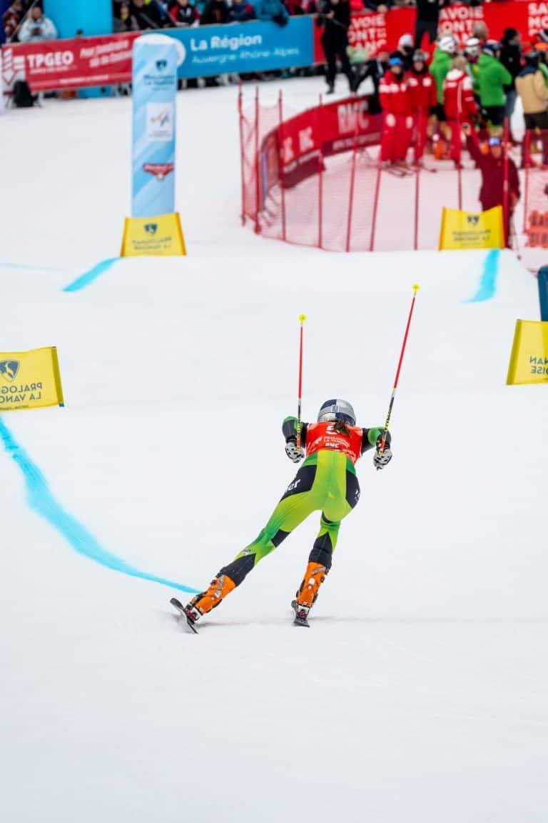 Johanna Holzmann mit starkem Skating Auftritt zum Sprint Sieg
