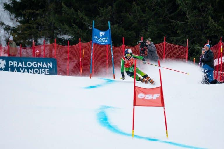 Johanna Holzmann im Riesentorlauf in Pralognan la Vanoise
