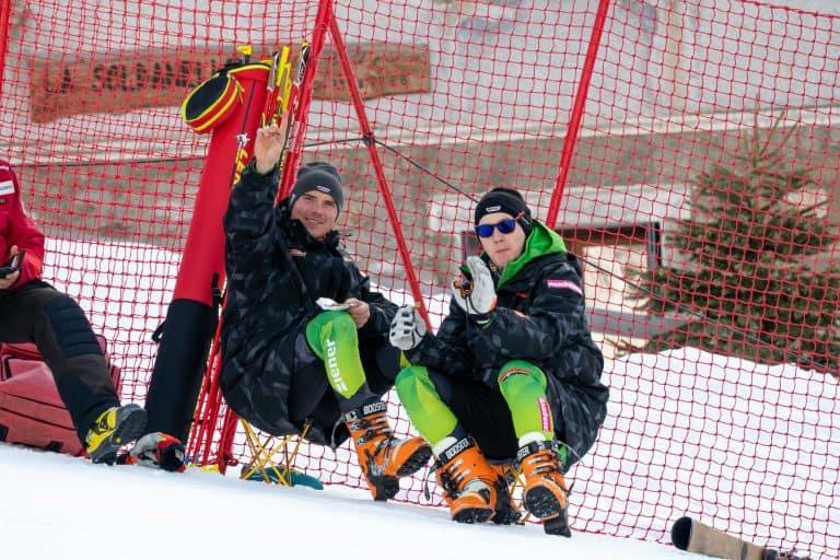 Leonhard Müller und Robin Kraft nach dem Rennen