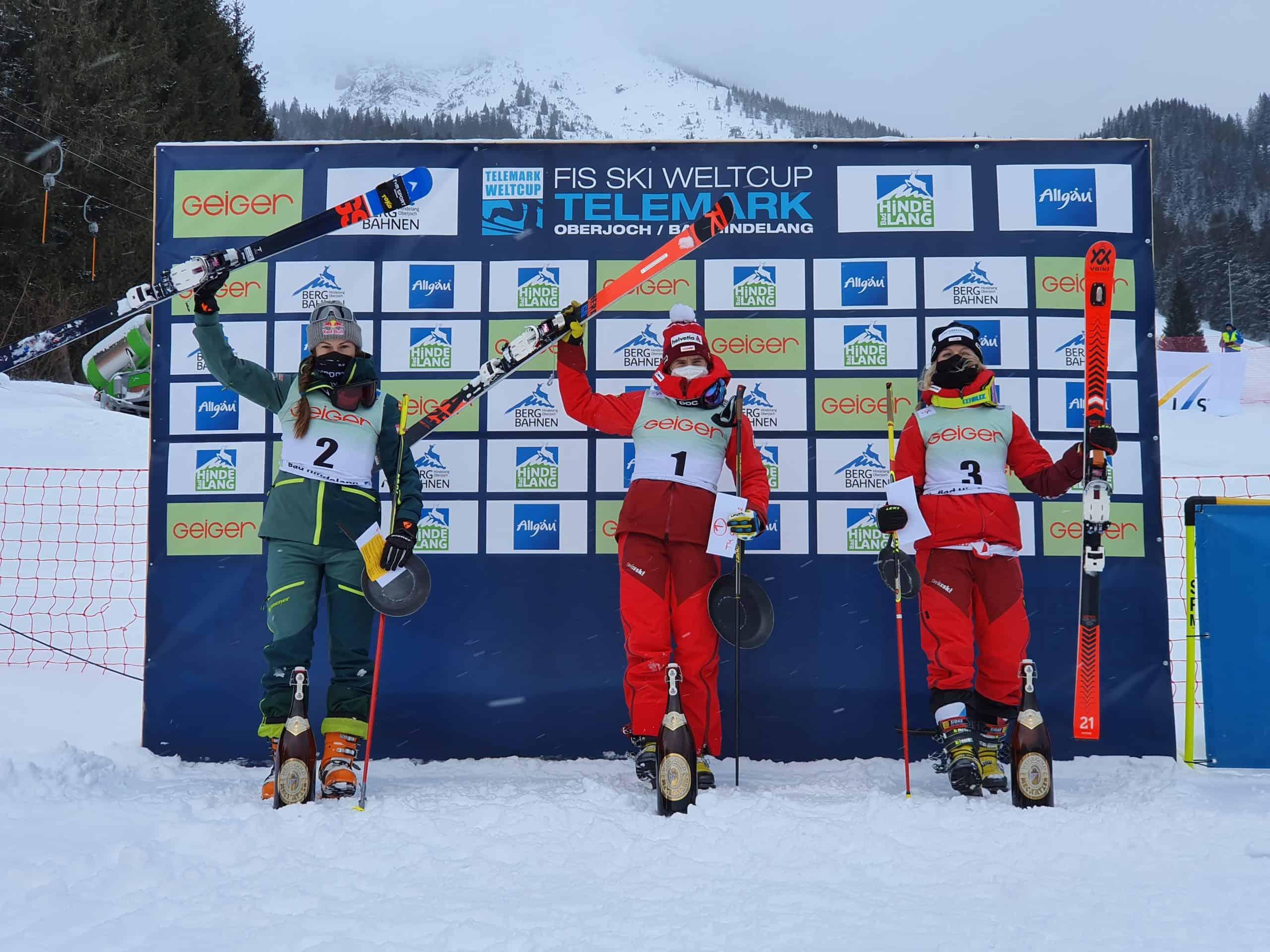 Siegerpodest der Damen beim zweiten Classic am Oberjoch