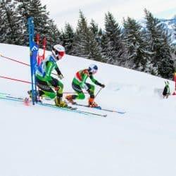 Kathrin Reischmann und Johanna Holzmann im kleinen Finale beim Weltcup am Oberjoch