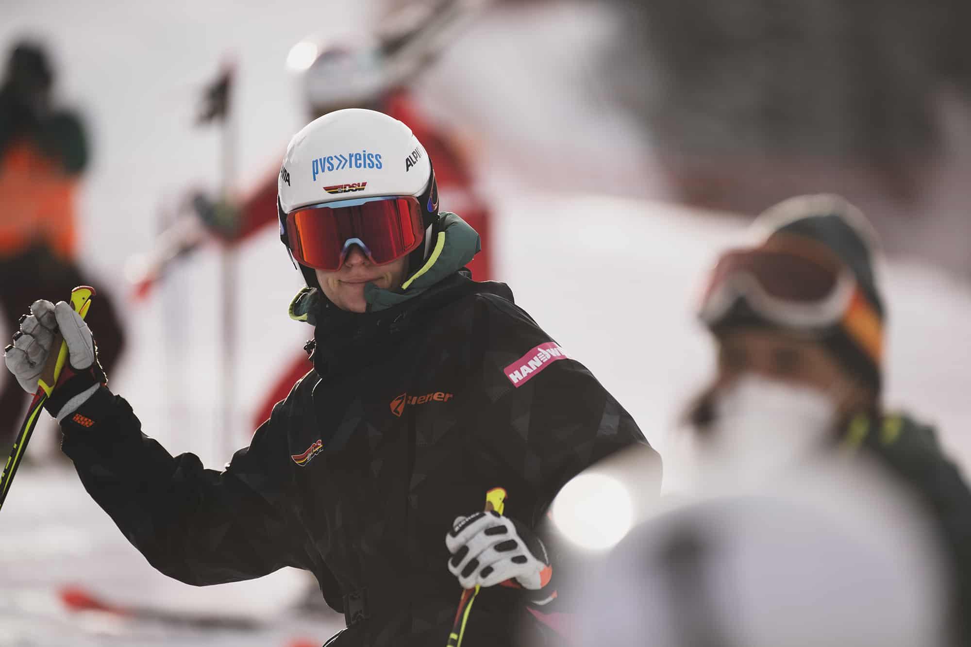 Kathrin Reischmann bei den Vorbereitungen auf das Rennen